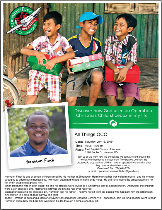 Operation Christmas Child - Hermann Finch